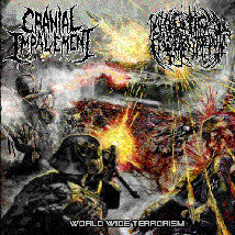 CRANIAL IMPALEMENT / NECROPTIC ENGORGEMENT- Split CD on Coyote R