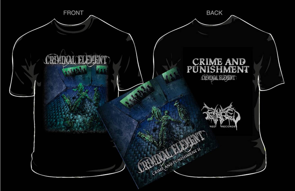 CRIMINAL ELEMENT- Crime..CD / T-SHIRT PACKAGE MEDIUM