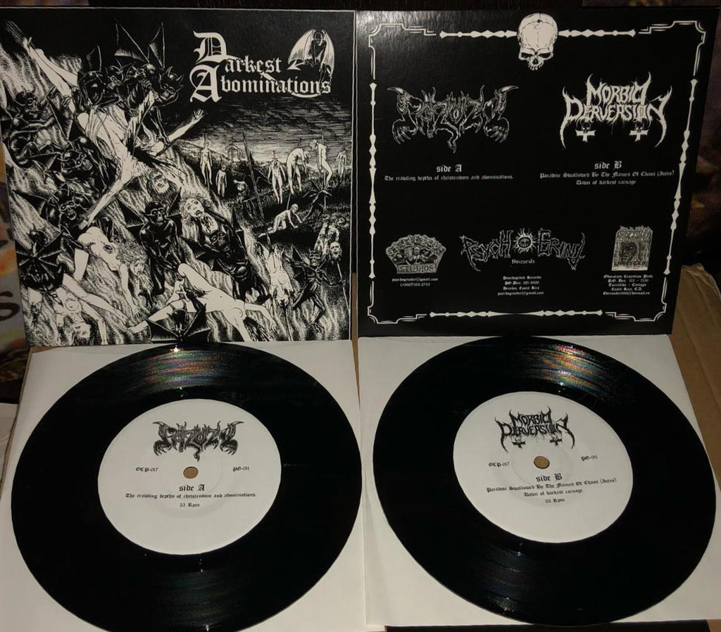 "Morbid Perversion / Pazuzu- Darkest Abominations Split 7"" EP VINYL"