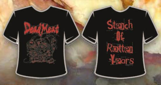 DEAD MEAT- Stench Of Rotten T-SHIRT LARGE