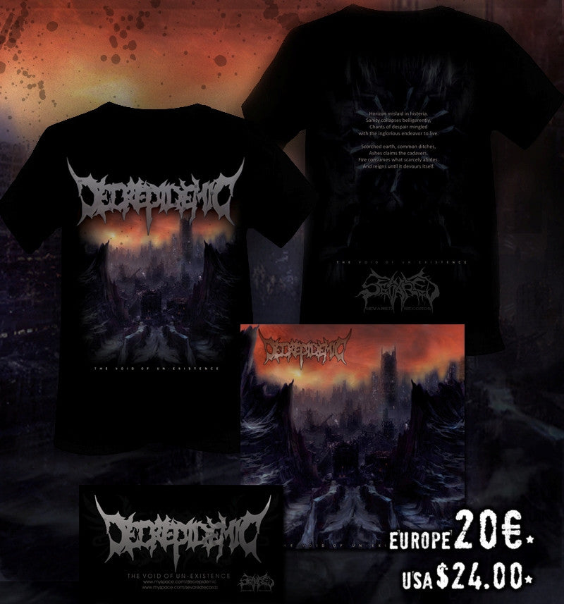 DECREPIDEMIC- The Void.. CD/T-SHIRT PACKAGE XL