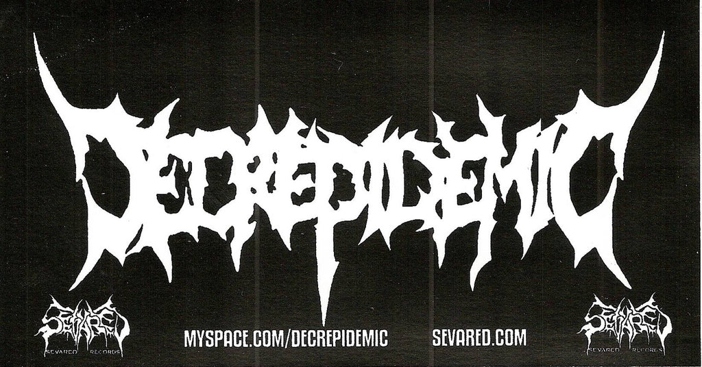 DECREPIDEMIC- Logo Sticker