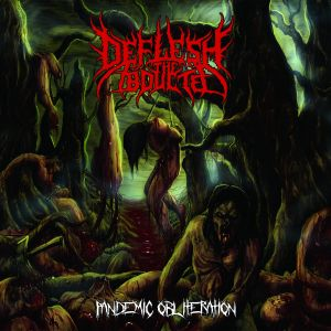DEFLESH THE ABDUCTED- Pandemic Obliteration CD on Rotten Cemtery Rec.
