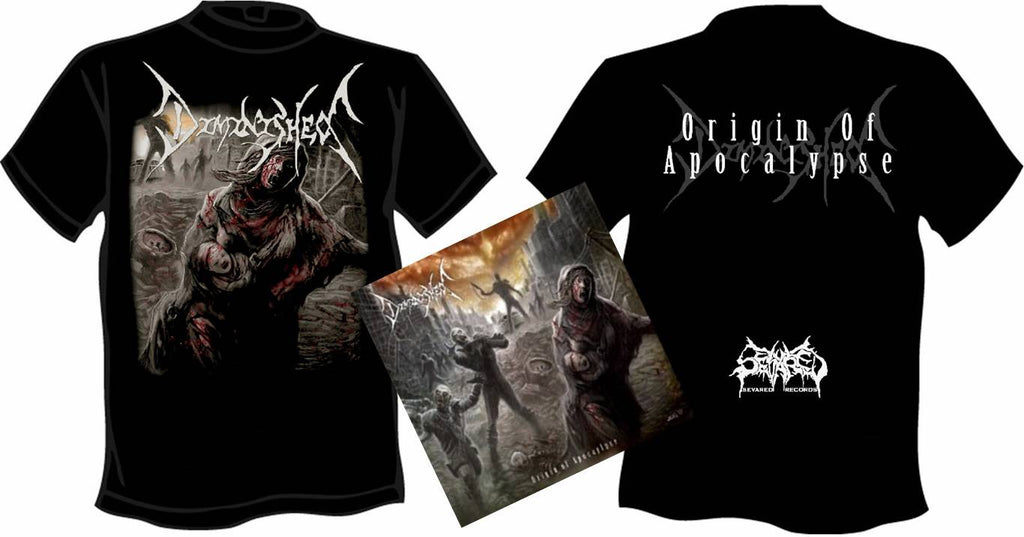 DIMINISHED- Origin Of.. CD / T-SHIRT PACKAGE X-LARGE