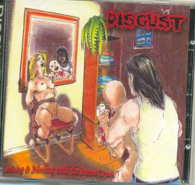 Disgust- Slicing & Bleeding Until The Bones Crack CD on Big Metal Rec.