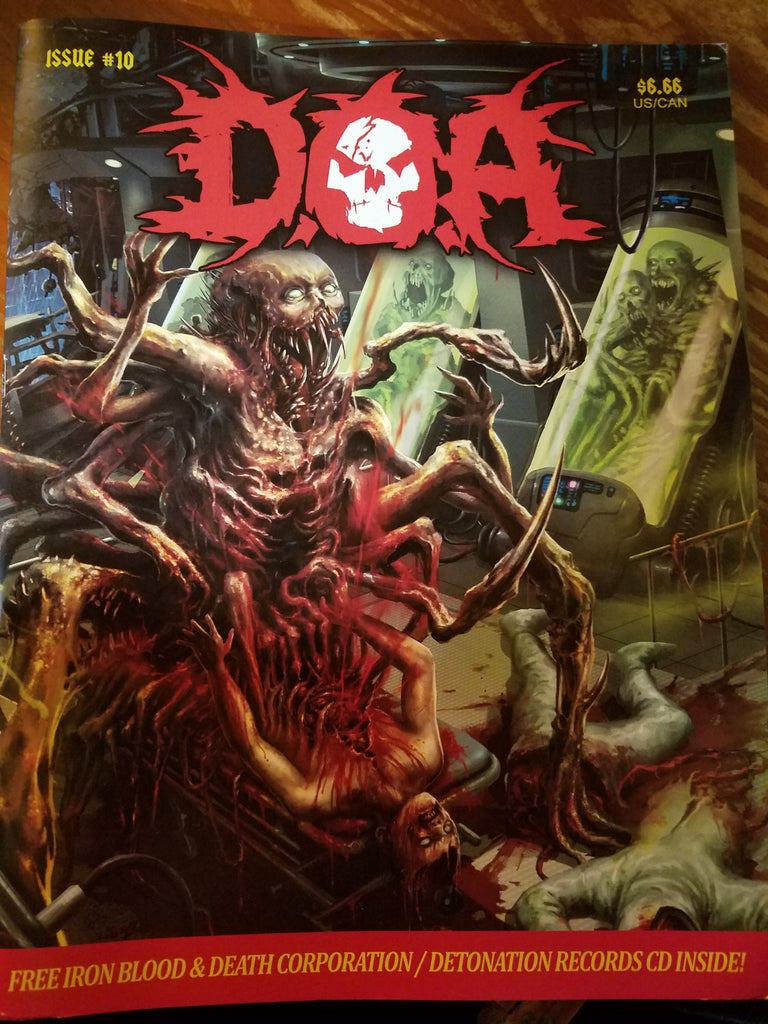 DOA Magazine Issue #10 ZINE + CD