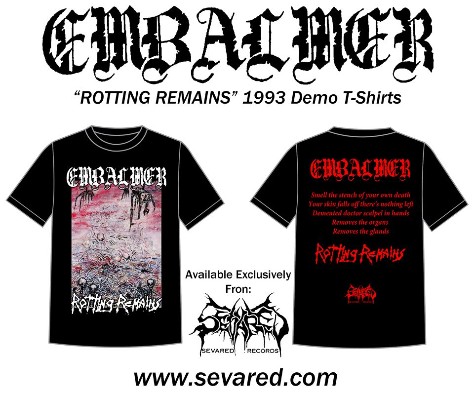 EMBALMER- Rotting Remains 1993 Demo T-SHIRT S-XXL OUT NOW!!!