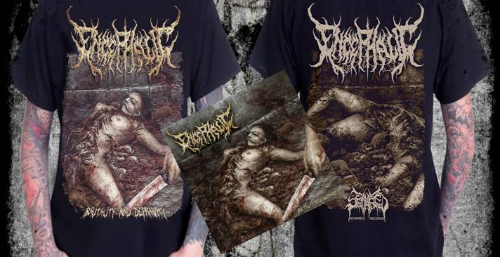 ENCEPHALIC- Brutality And Depravity CD / T-SHIRT PACKAGE S-XXXL PRE-ORDER!!!