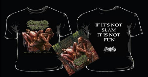 EXTIRPATING THE INFECTED- Reborn...CD / T-SHIRT PACKAGE X-LARGE