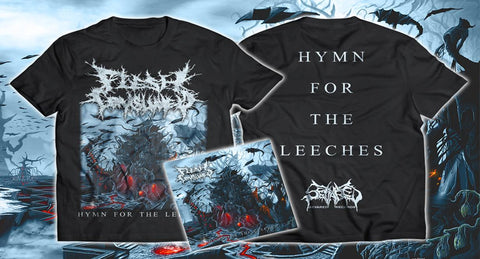 FLESH CONSUMED- Hymn For The Leeches CD / T-SHIRT PACKAGE S-XL