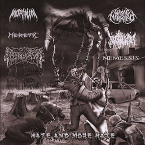 Fecalizer / Nemessis / Ripping Organs / Waste Mankind / Heretic / Mortalem- Split CD on Akracia Rec.