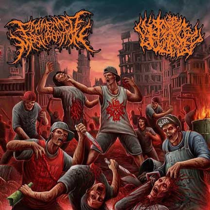 FERMENTED MASTURBATION / PIT OF TOXIC SLIME- Split CD on Death Metal Industry