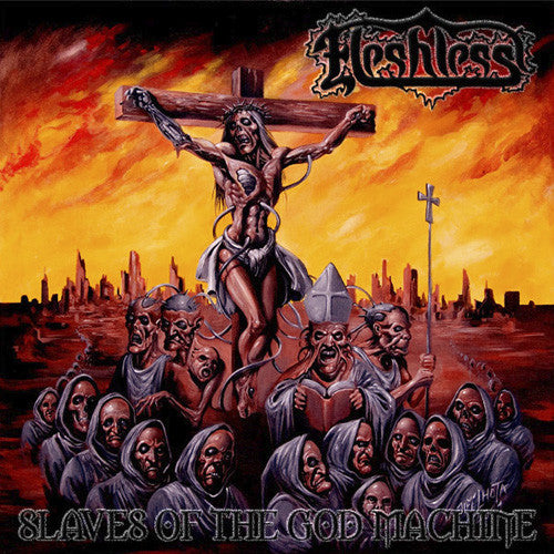 "Fleshless- Slaves Of The God Machine 12"" LP VINYL on Metal Age P"