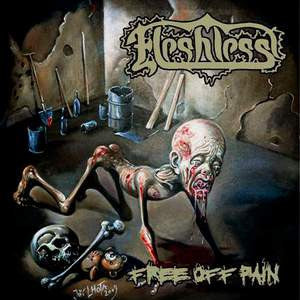Fleshless- Free Off Pain / Stench Of Rotting Heads CD on Metal A