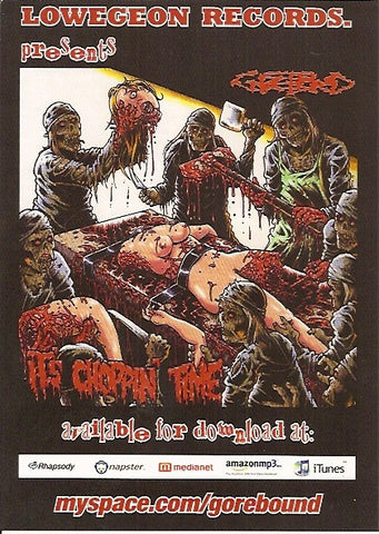 Gorebound- It's Choppin Time POSTER