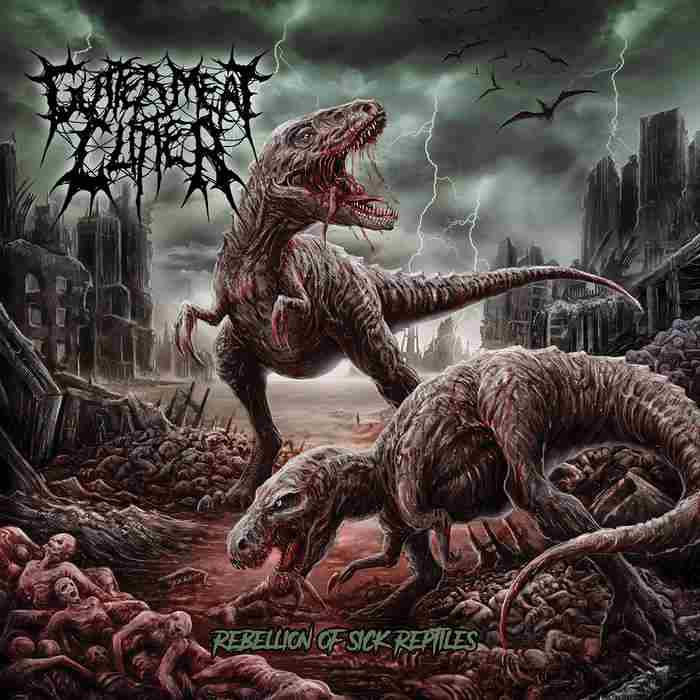 Gutter Meat Clitter- Rebellion Of Sick Reptiles CD on Rotten Music
