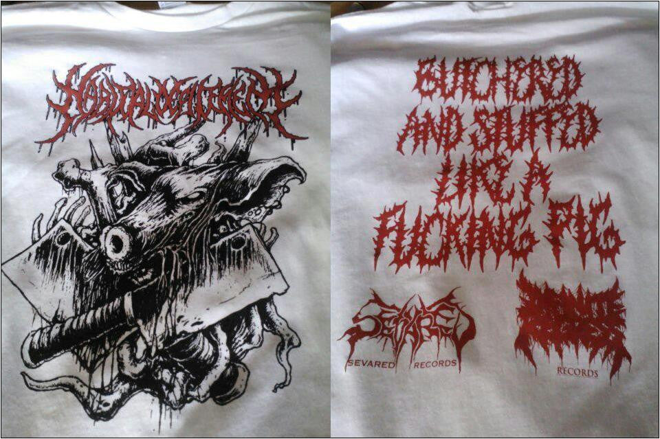 HABITUAL DEFILEMENT- Butchered & Stuffed.. T-SHIRT X-LARGE