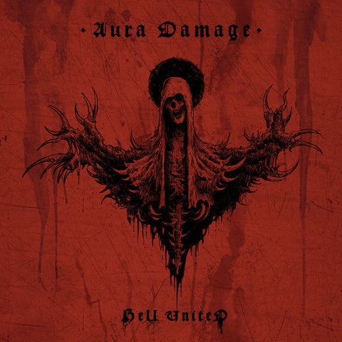 "Hell United- Aura Damage 12"" GATEFOLD LP VINYL on Hellthrasher Prod."