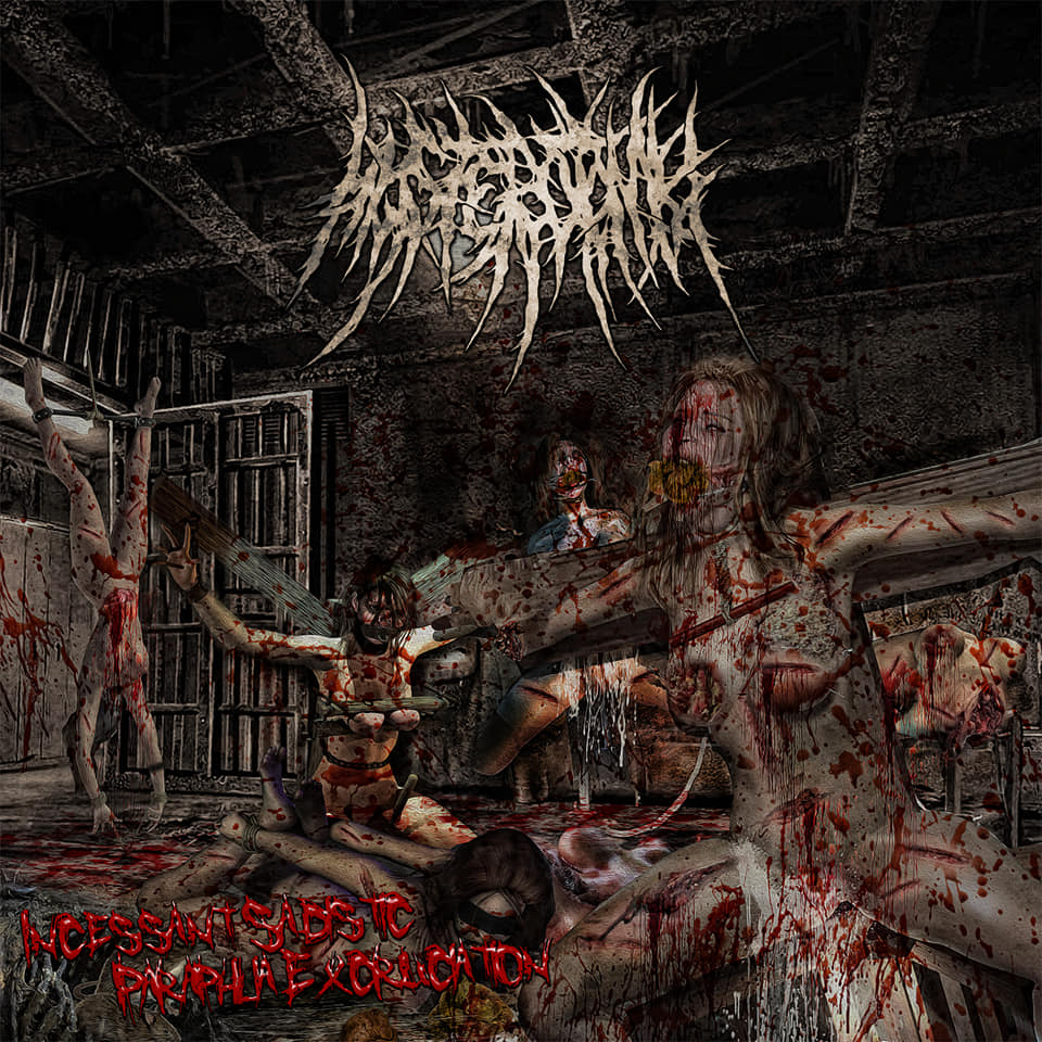 HYSTEROTOMY- Incessant Sadistic Paraphilia Excruciation CD on Sevared Rec. / Brutal Mind