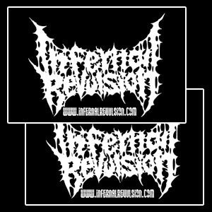 INFERNAL REVULSION- Logo Sticker