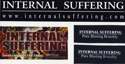 INTERNAL SUFFERING- Stickers and Patch Combo