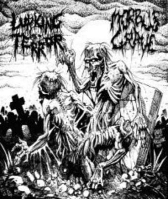 Lurking Terror / Morbus Grave- Omega Doom Split CD on Lord Of The Flies Rec.