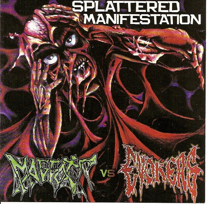 Maggots / Evokers- Splattered Manifestation Split CD on Bloodshe