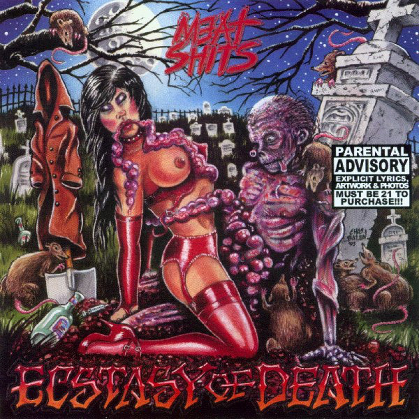 Meat Shits- Ecstasy Of Death CD on Rotten Roll Rex