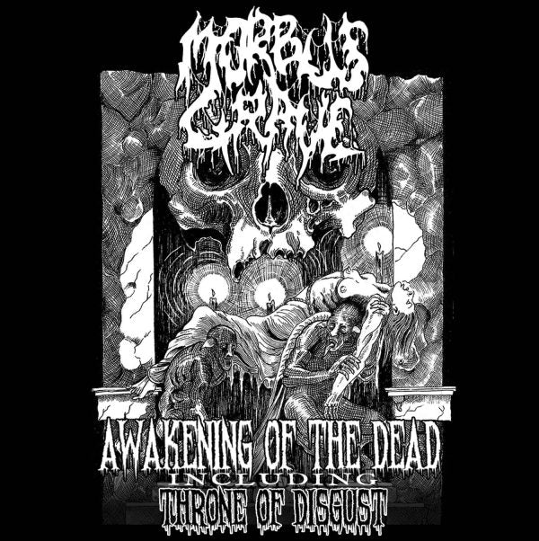 Morbus Grave- Awakening Of The Dead / Throne Of Disgust CD on Chaos Rec.