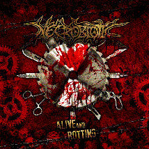 NECROBIOTIC- Alive And Rotting CD on No Label Rec.