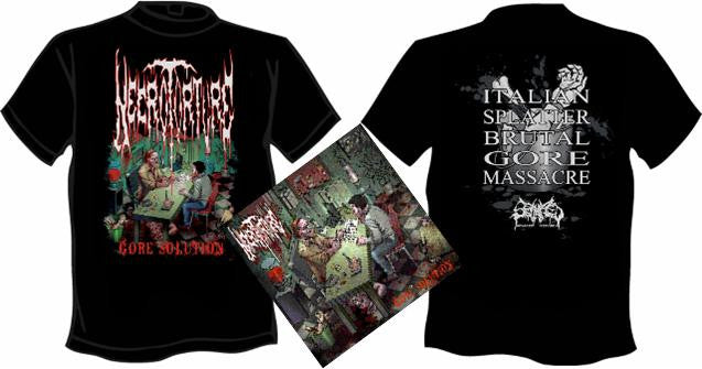 NECROTORTURE- Gore Solution CD / T-SHIRT PACK SMALL