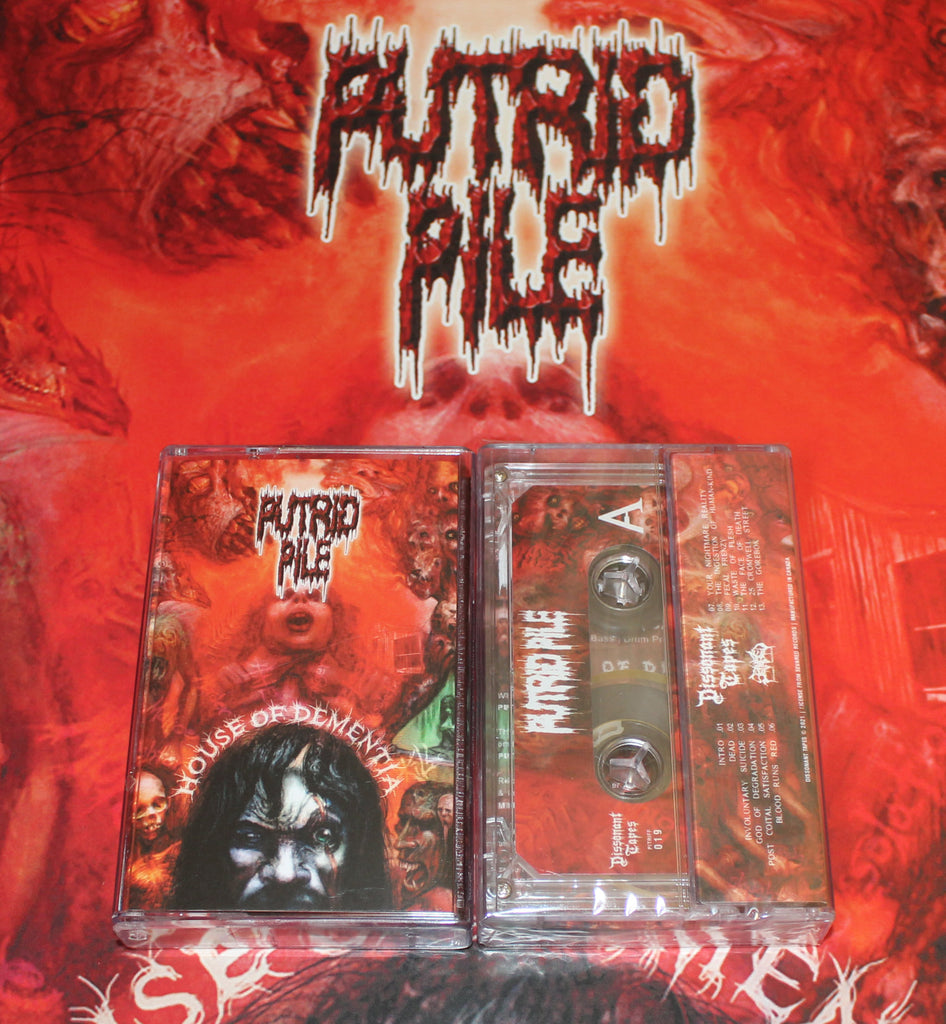 PUTRID PILE- House Of Dementia CASSETTE on Dissonant Tapes