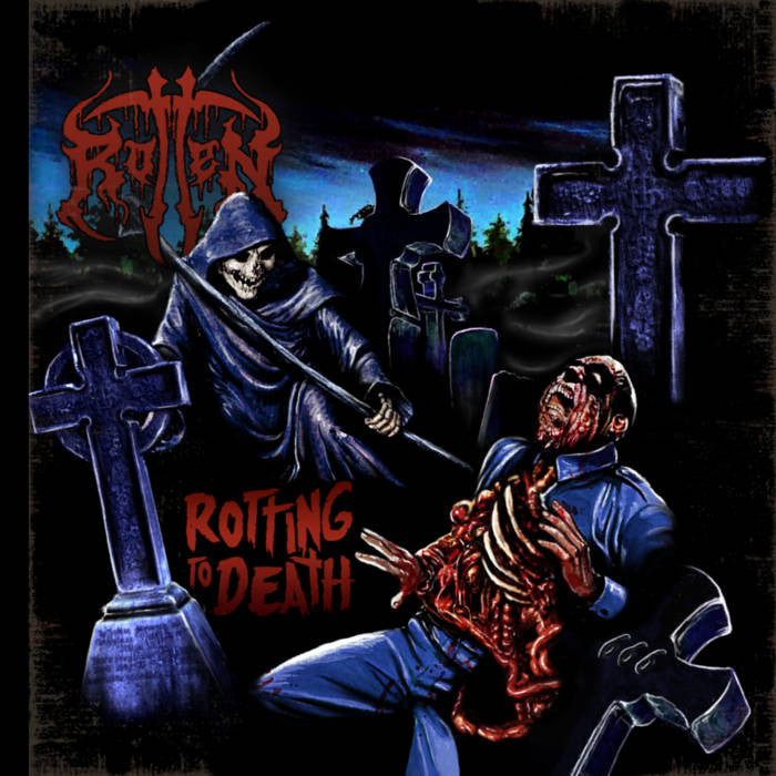 Rotten- Rotting To Death CD on Lost Apparitions Rec.