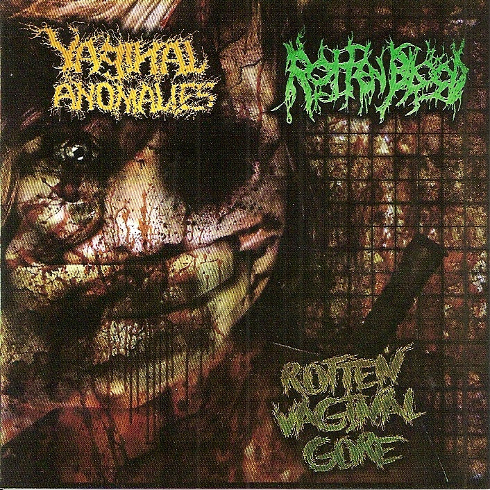 Vaginal Anomalies / Rotten Blood- Split CD on Satanic Porno Rec.