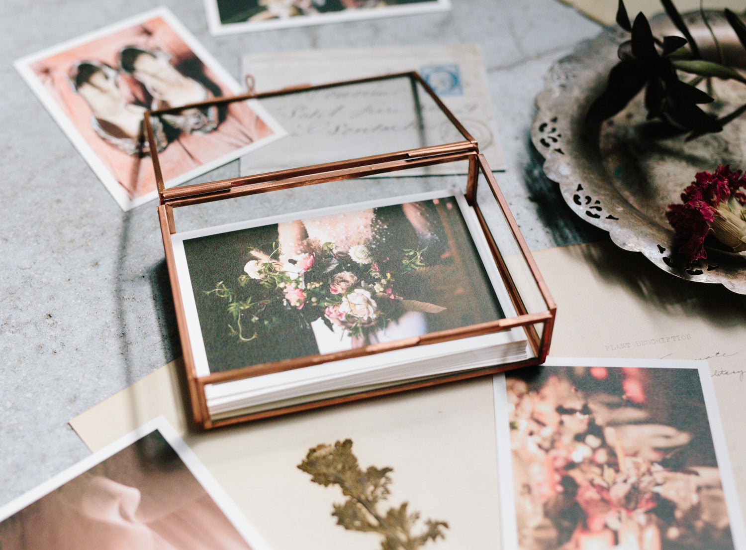 glass photo box for prints