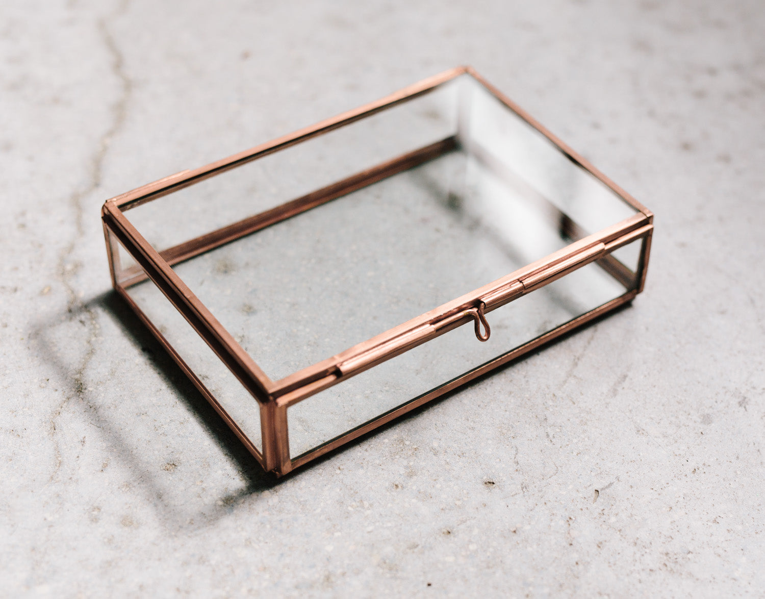 rose gold glass box for prints
