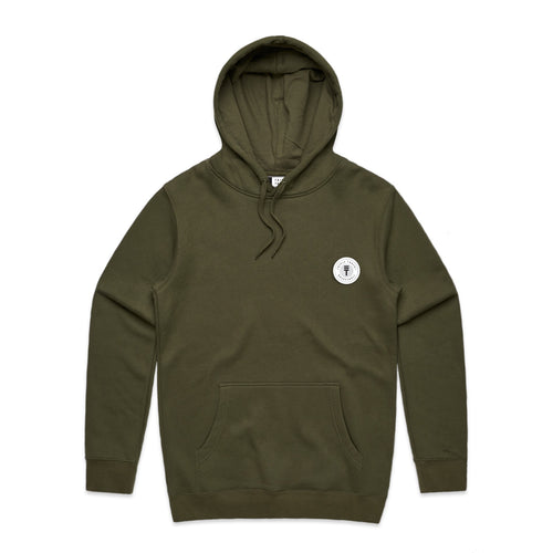 FUNDAMENTAL BADGE HOODIE - ARMY