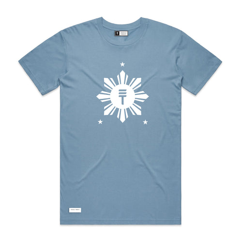 RISE T-SHIRT - LIGHT BLUE
