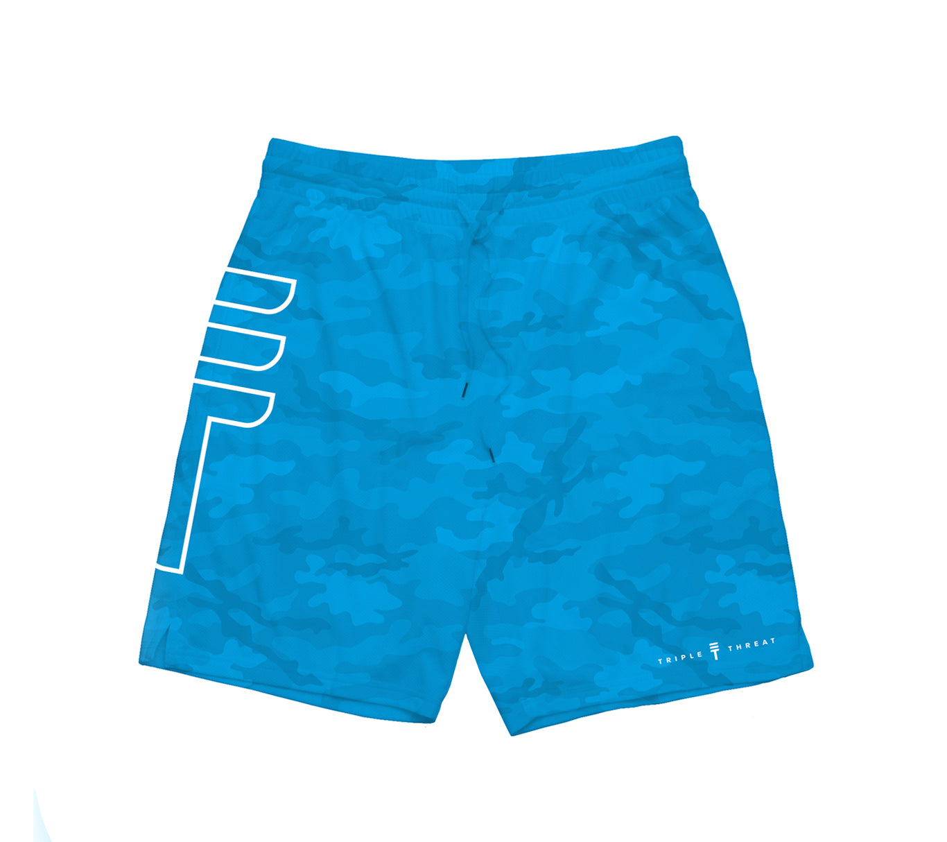 TRIPLE THREAT BIG LOGO SHORTS - BLUE