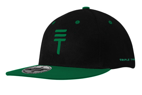 Triple Threat Snapback - Black/Green