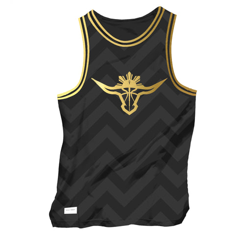 BUFFALO SINGLET - BLACK/GOLD