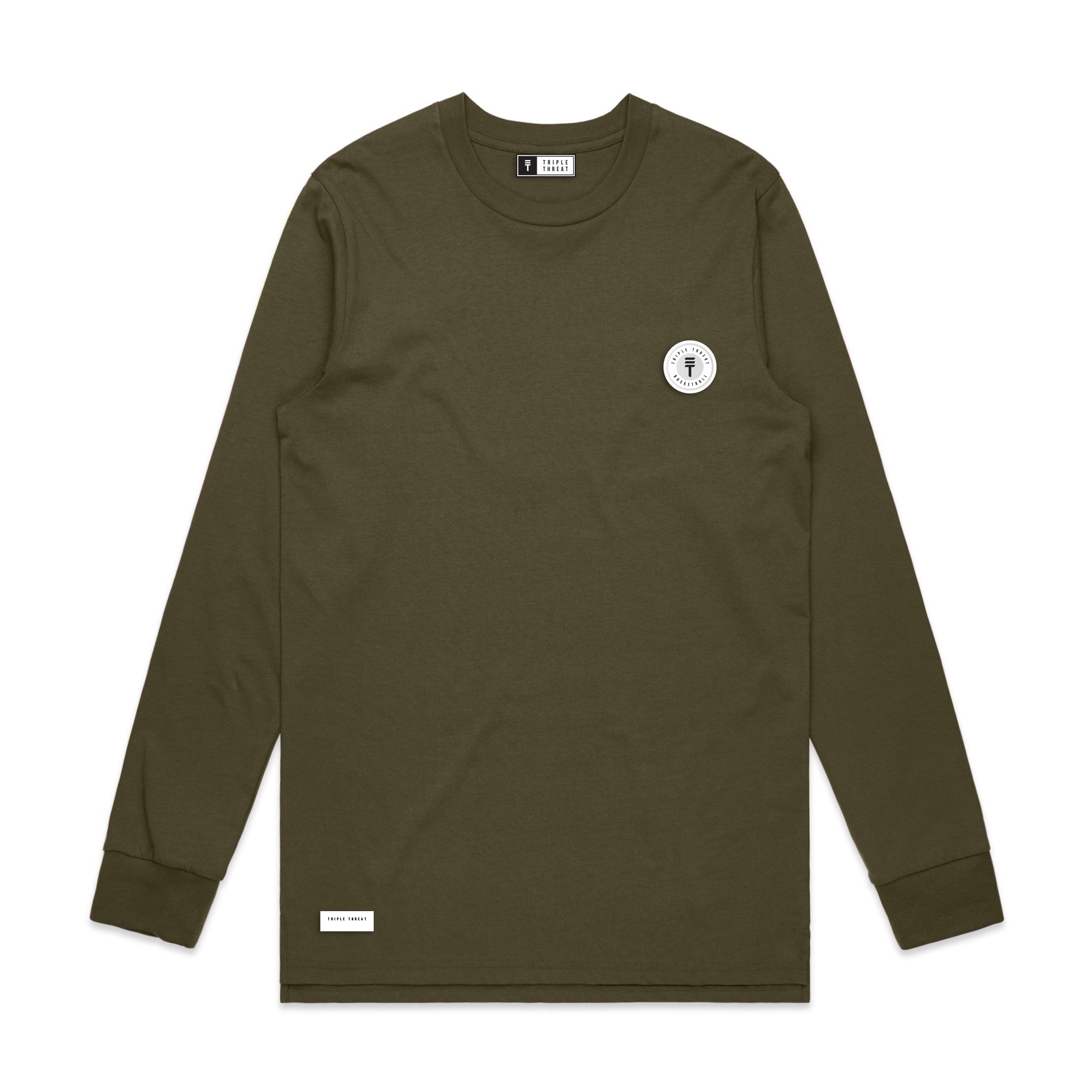 FUNDAMENTAL BADGE LONG SLEEVE - ARMY