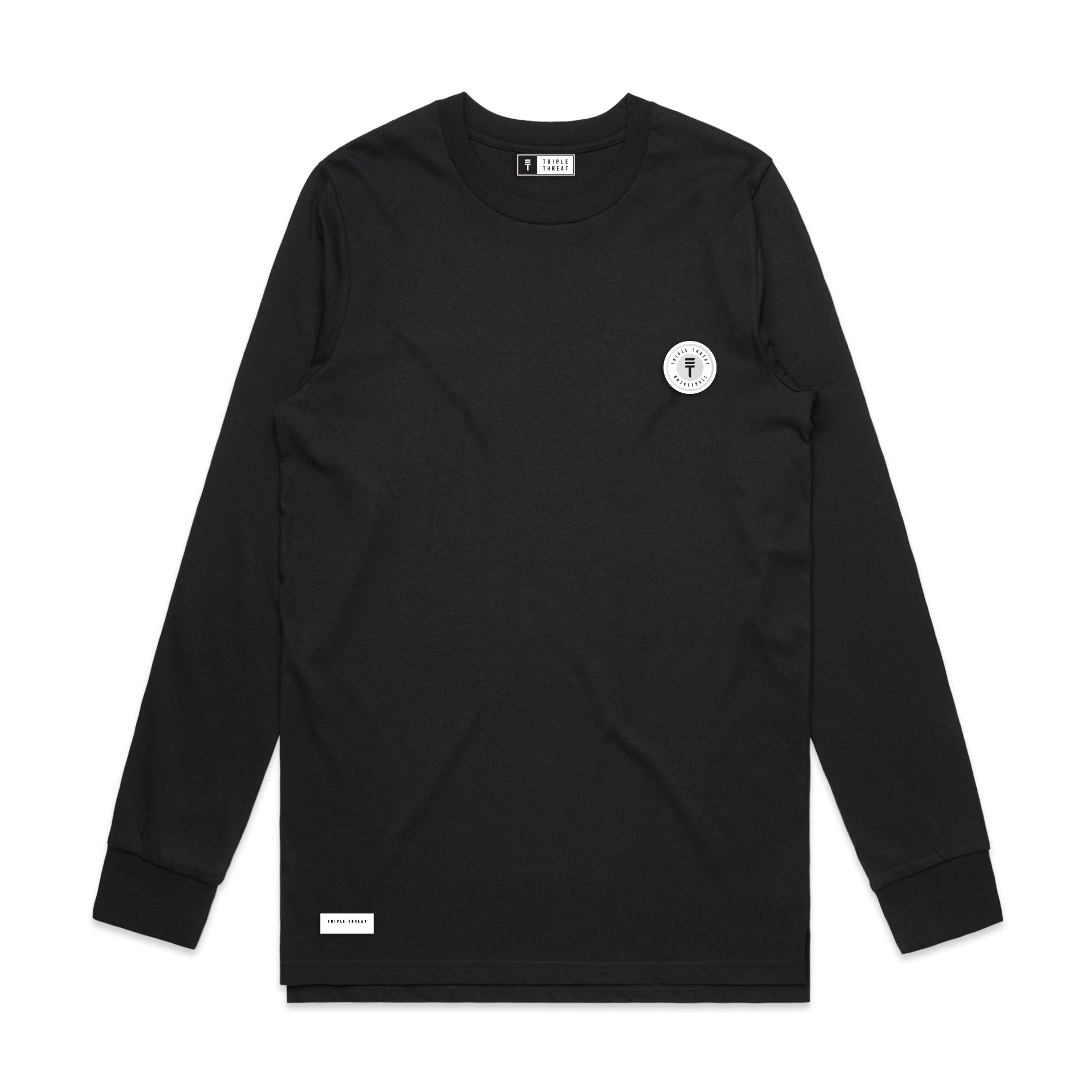 FUNDAMENTAL BADGE LONG SLEEVE - BLACK