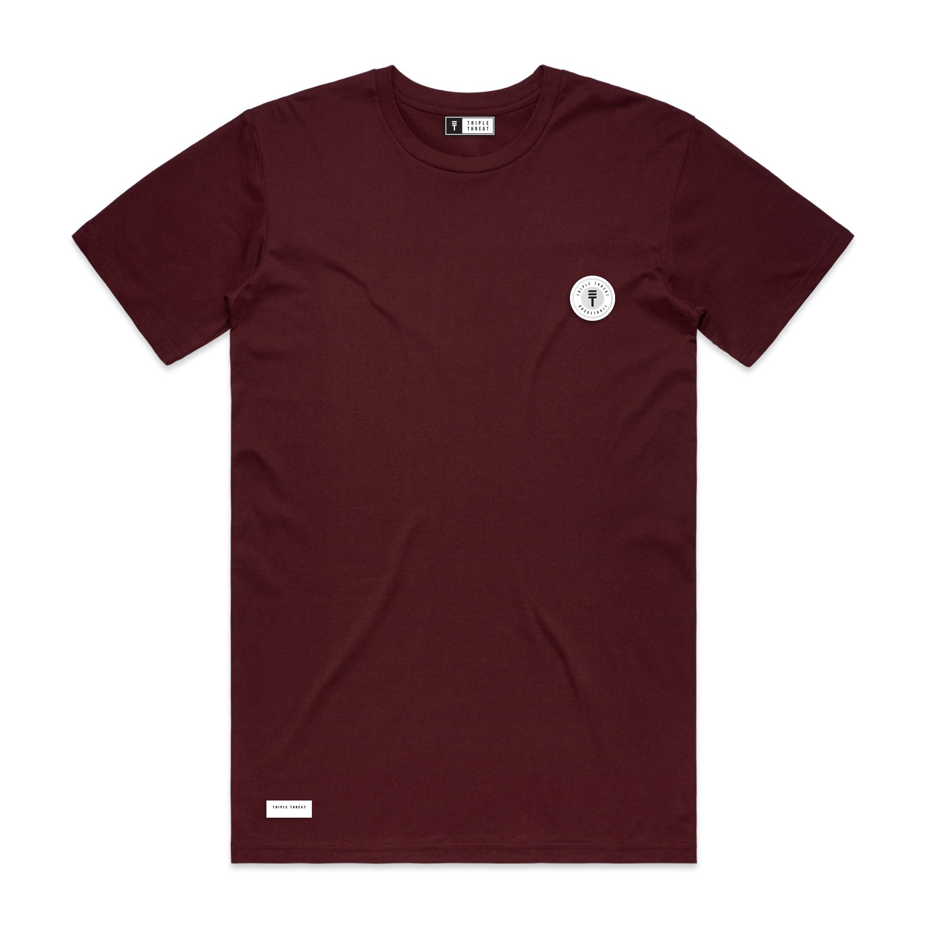 FUNDAMENTAL BADGE T-SHIRT - MAROON
