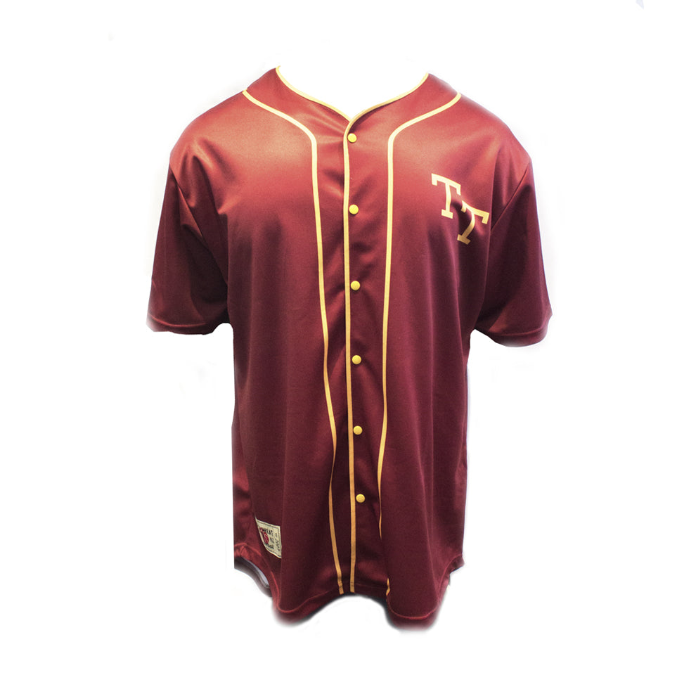 MAROON & YELLOW BASEBALL SHIRT