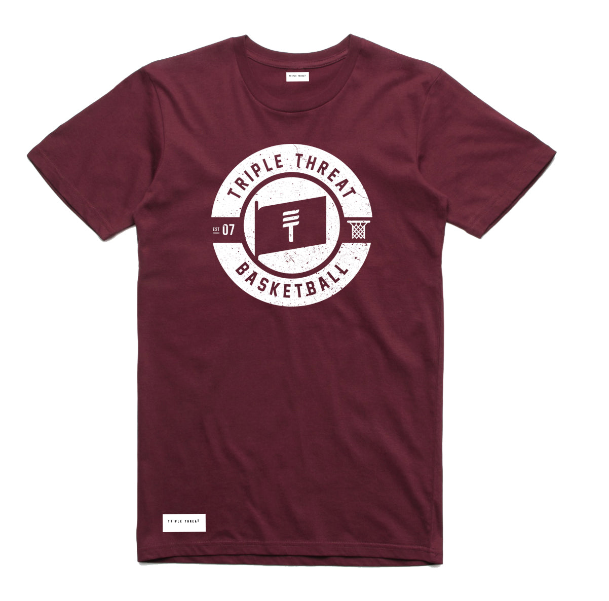 FLAG T-SHIRT - MAROON/WHITE