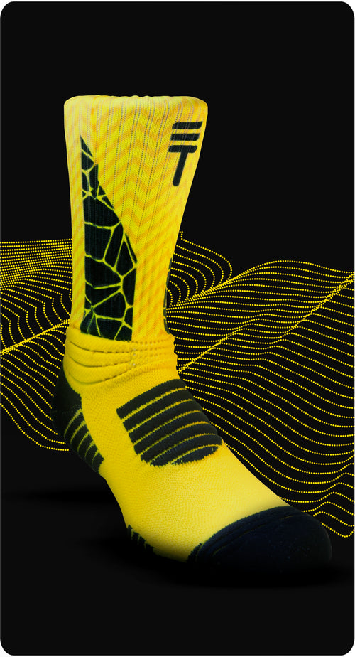 Cush 360 sock Black/yellow