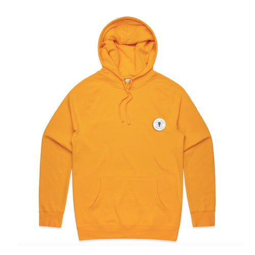FUNDAMENTAL BADGE MID WEIGHT HOODIE - YELLOW