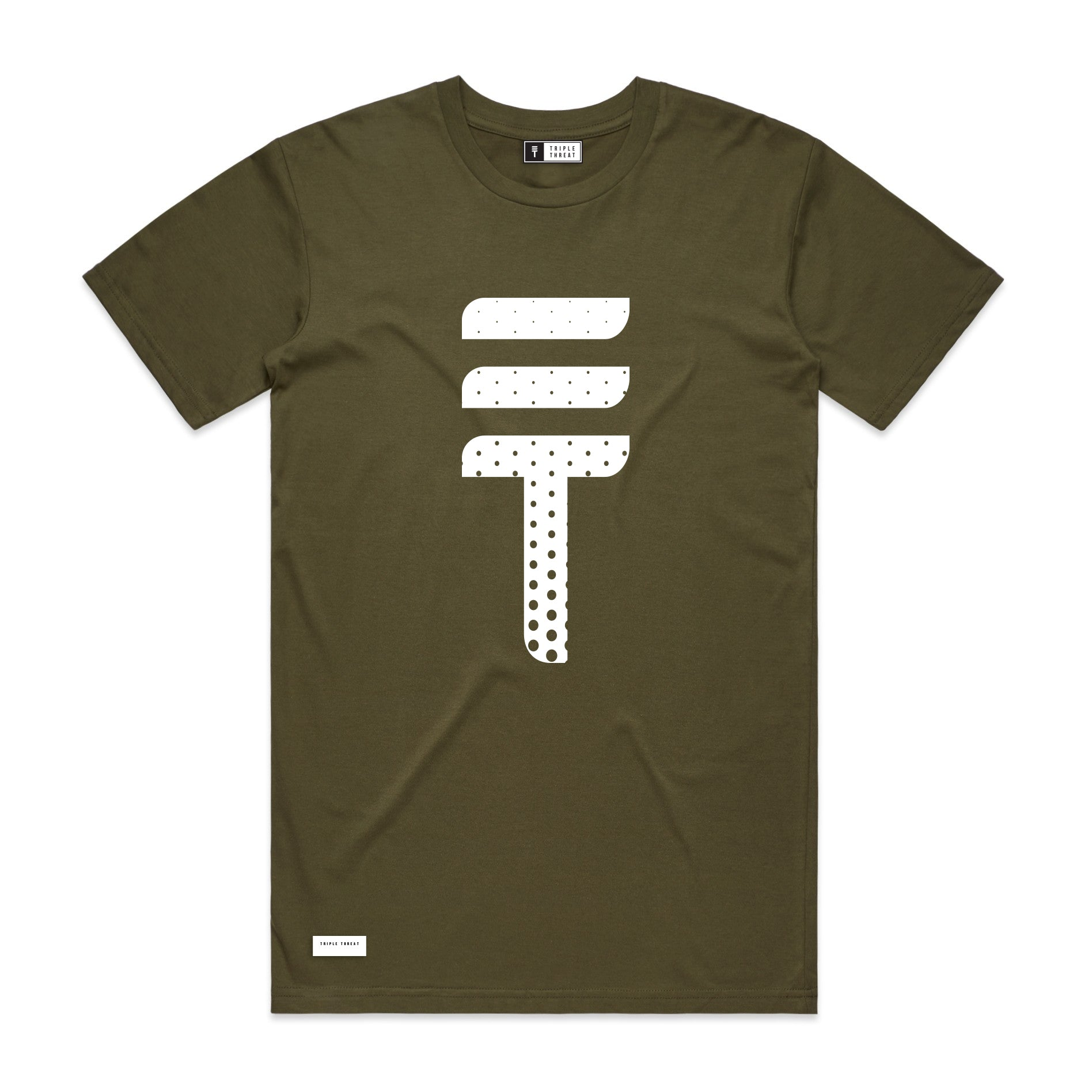DOTTED T-SHIRT - ARMY