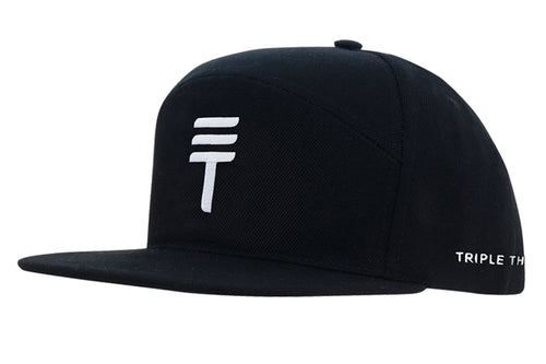 Triple Threat Snapback - Black/White